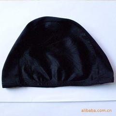 厂家供应锦纶布泳帽  锦纶游泳帽 黑色泳帽 成人泳帽 一包50 泳帽 无包装泳帽