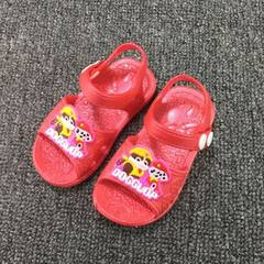 A pair of new baby toddlers cool slippers summer h red 15 (internal length: 12.5cm)