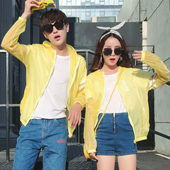 Sun-protective clothing men`s and women`s skin clo yellow 3 xl