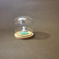 微景观玻璃罩 永生花仿真花 面塑灯罩粘土厂家直销 可定做促销 6*9玻璃罩