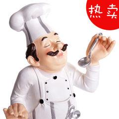 创意树脂工艺品厨师摆件时尚家居装饰酒吧西餐厅咖啡馆蛋糕店摆设 F区-CS600