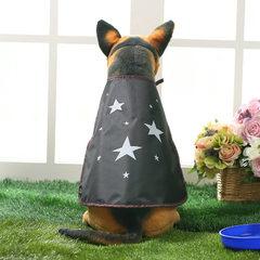 夏季原创时尚宠物衣服披风创意雨衣遮阳衣宠物服装宠物用品批发 黑 S码30cm(3-7斤)
