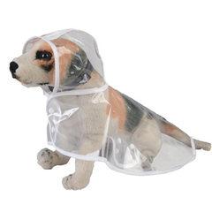 新款宠物衣服 宠物透明雨衣狗狗衣服外出服防水防雨大型犬雨衣 蓝 S