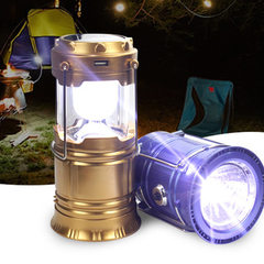 LED solar lamp camping lamp camping lamp outdoor p Normal: gold (5700)