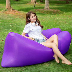 欧美户外沙滩懒人睡袋充气床 折叠快速充气沙发 空气沙发厂家直销 紫色 190T面料(0.75kg)