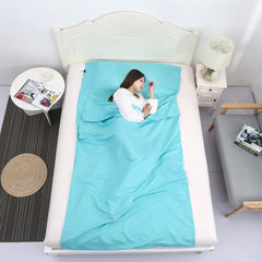 旅行超轻便携式信封成人双人睡袋 酒店宾馆隔脏床单火车卧铺睡袋 天蓝色 75cm X 210cm
