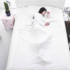 海迎 户外旅行隔脏睡袋便携酒店单人睡袋成人信封式纯棉睡袋厂家 白 单人:0.8*1.2m