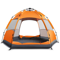 Breadfruit fully automatic tent double - layer mul orange Three or four people