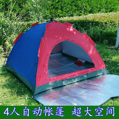 Outdoor tent camping double automatic tent couple  4 people automatic single-storey tent Three or four people