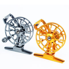 Fly flywheel ice fishing wheel fishing wheel fishi The gold color is 53MM in diameter