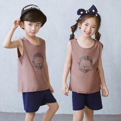Spring and summer 2018 new cotton children`s vest  Spring vest suit) lion 90 cm