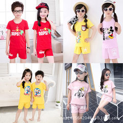 Children`s suit wholesale factory direct sale shor Pants with random prints 2-7 years old