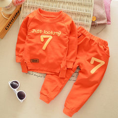 One hair generation children`s suit 2017 spring co Spring and autumn clothing in orange color 80 cm