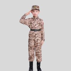 Children`s military uniform camouflage suit primar Desert camouflage print 100 cm