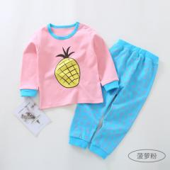 Korean version of children`s clothing 2018 spring  Pineapple powder 73cm (6-12 months is recommended)
