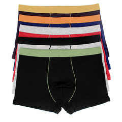 Fashionable bamboo fiber comfortable men`s underwe Mixed color XXXL - 120 catties