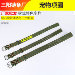Factory direct sale military green pet collar poly 40 with swivel