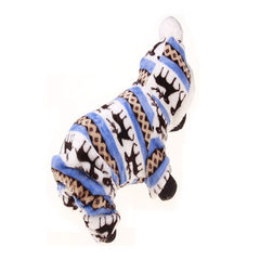 New dog pet cotton coat cute dog clothes dog cloth blue l