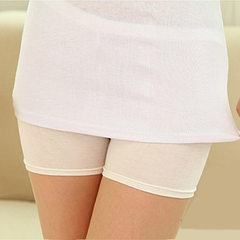 Women`s wear Korean version anti-light ice silk la The flat white Ice silk