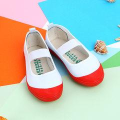 批发供应国途舞蹈鞋 儿童童舞鞋 体操运动鞋 青岛环球帆布鞋 红胶头 14码内13.5厘米