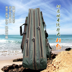 Fishing gear bag wholesale waterproof canvas fishi Two layers of 70 cm long rod wrap