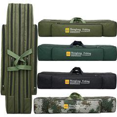 批发 渔具包1.25米1.2米80cm90cm双层三层鱼竿包防水钓鱼包迷彩 迷彩色