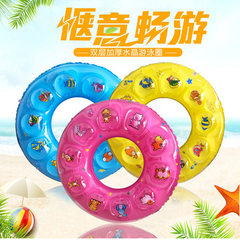 Wholesale PVC inflatable swimming rings children`s Thicken single layer 80#
