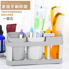单杯双杯塑料牙刷架 漱口杯牙刷架套装放置式简约家居牙刷套装架 单杯