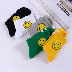 The new type of children`s socks with infant socks Smiling face 5 double packs 3 to 4 years old -S