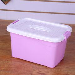 厂家直销大中小号塑料手提收纳箱 家用衣服杂物玩具整理箱储物箱 紫罗兰 6L(四色现货80个/件)