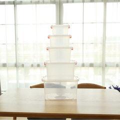厂家直销塑料收纳箱透明小中大号收纳盒车载储物箱整理玩具箱批发 一号桶