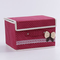 Non-woven fabric gift receiving box manufacturer w Wine red 26 * 21 * 17 cm