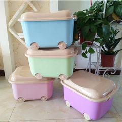 创意儿童收纳箱卡通轮滑式玩具整理箱车载杂物储物箱厂家直销礼品 混装 40*31.5*24cm