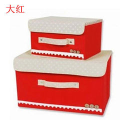 Non-woven fabric folding QQ box clothing sorting s red The trumpet 26 * 20 * 17