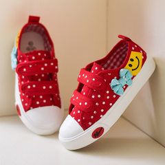 Double star children`s shoes lovely polka dot chil 78 red 25 yards