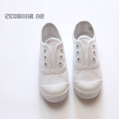 New products 2018 children`s canvas shoes wholesal white 21-25 yards, 5 pairs for each hand