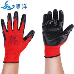 现货供应 创信N528 丁晴手套防油耐磨 柔软浸胶手套 劳保手套 创信N528