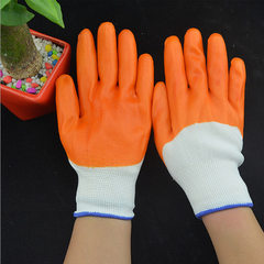 Labor protection gloves wholesale PVC beef gloves  PVC flat-mount (12 pairs/bag) has taste All code
