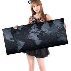 世界地图鼠标垫 mouse pad 键盘垫超大鼠标垫 world map防滑鼠垫 600*300*2