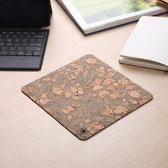 Cork PVC super protective wrist mouse pad wholesal Beautiful wood folding - small