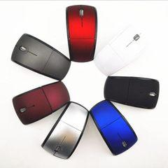 跨境亚马逊2.4G无线折叠光电鼠标 wireless mouse mice 可小单OEM 白色