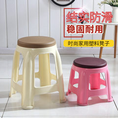 Stool wholesale plastic thickening adult household Brown large.