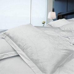 宾馆床上用品 酒店床品 客房布草  白色纯棉提花枕套 可加工定制 白色 55*83