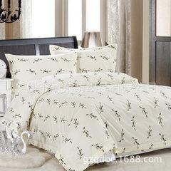 酒店布草批发 主题酒店纯棉印花三件套 宾馆酒店床上用品三件套 麦穗 1.2米三件套