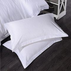 酒店布草床上用品  40支普通 贡缎纯棉全棉枕套   厂家直销 白色 53*83
