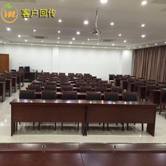 Suzhou factory conference room double painted long Red walnut color 1.2 m red walnut painted solid wood veneer