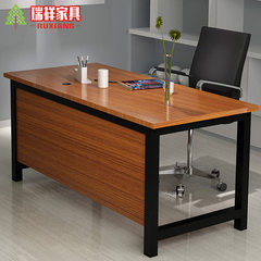 Modern simple household desk desk desk desk desk d Teak + black frame 80 * 40 * 74