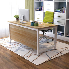 Simple modern desk for single person office desk f Light walnut + white leg 50 * 120 * 120