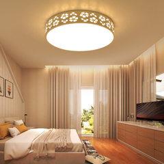 Modern simple bedroom lamps circular LED study lam The circular diameter is 42cm
