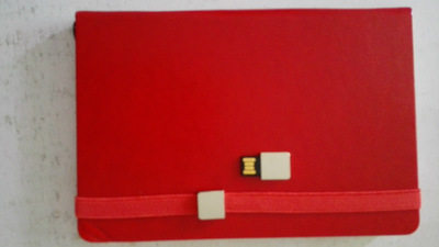 Notebook learning supplies notepad with usb flash  red 4 gb